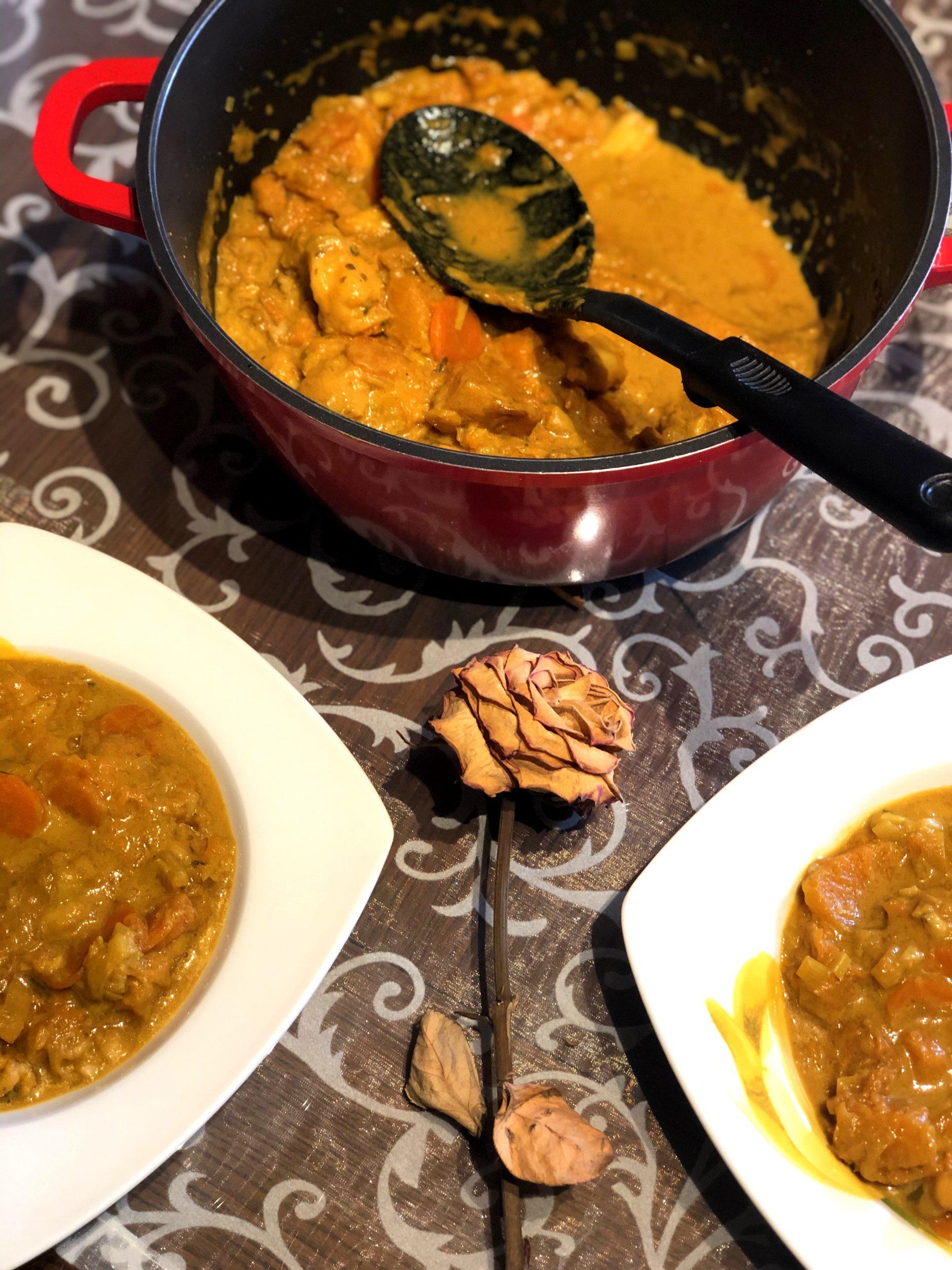Curry madras z ribo