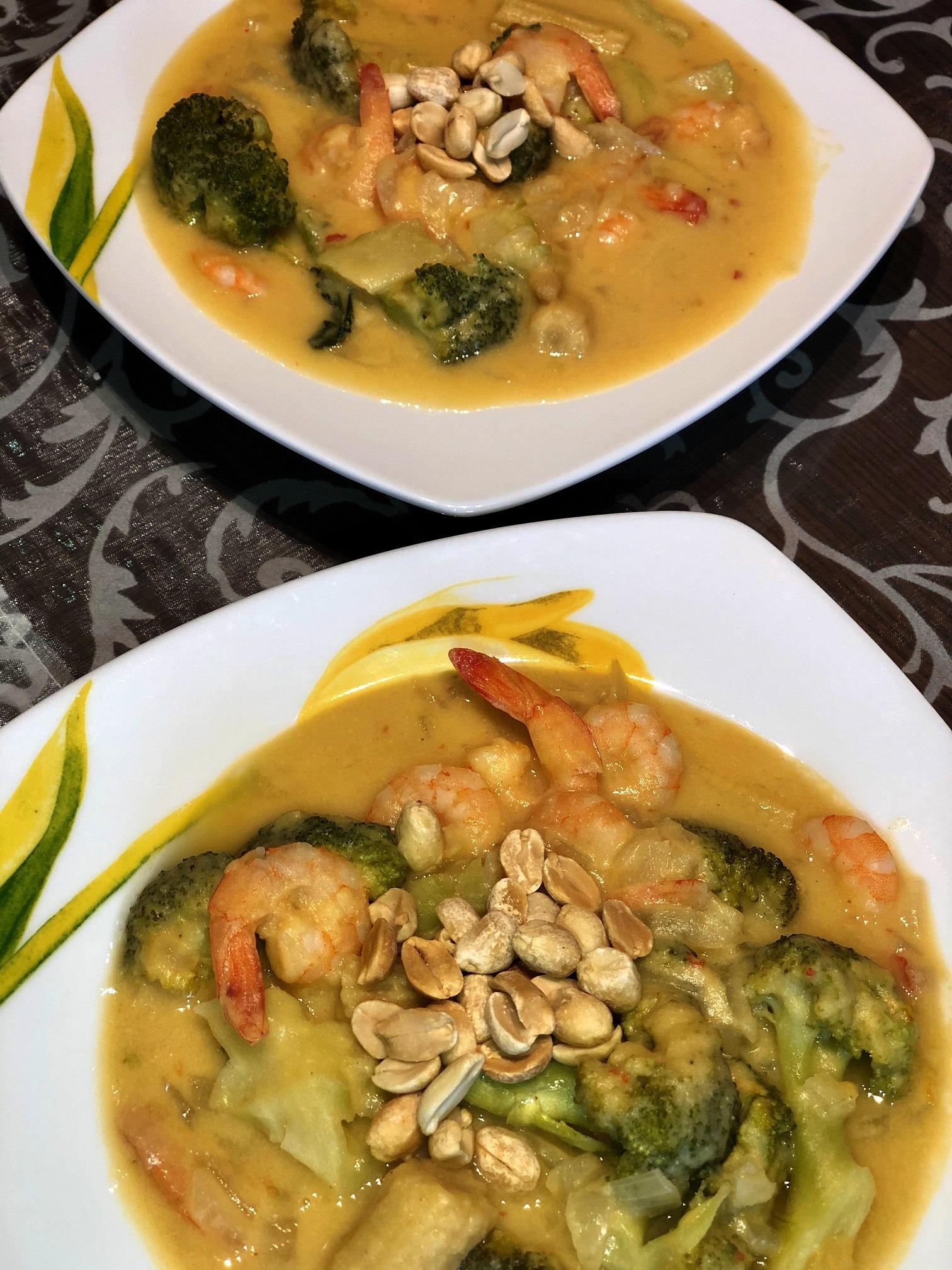 Lečin curry z rakci