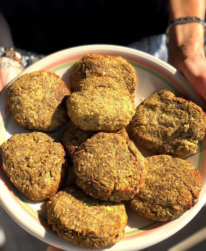 Vegan chickpea patties